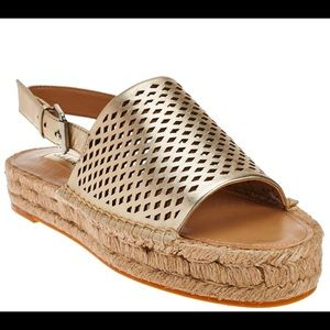 G.I.L.I espadrille sandals in gold